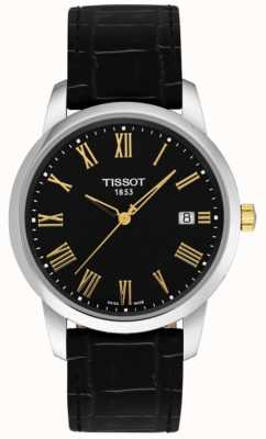 Tissot Mens Classic Dream Black Leather Black Dial Roman Numerals T0334102605301