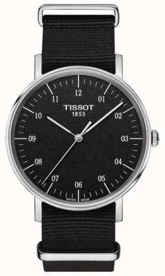 Tissot Mens Everytime Black Canvas Strap Black Dial T1094101707700