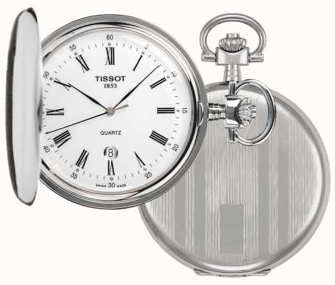 Tissot Savonette Full Hunter Pocket Watch Stainless Steel T83655313