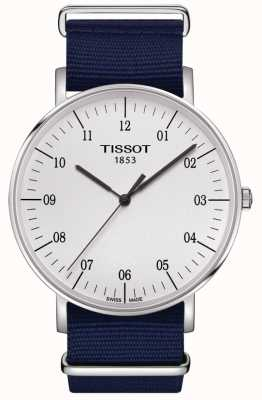 Tissot Mens Everytime Blue Canvas Strap White Dial T1096101703700