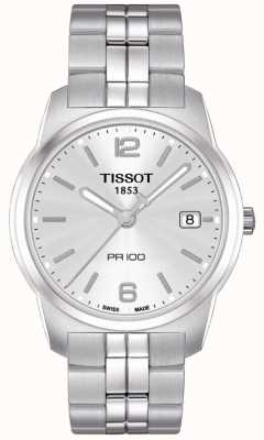 Tissot Mens PR100 Stainless Steel Silver Dial Swiss Made T0494101103701