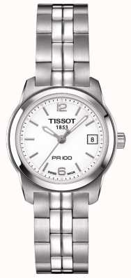 Tissot Womens PR100 Stainless Steel Silver Dial Swiss Made T0492101101700