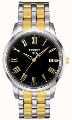 Tissot Mens Classic Dream Two Tone Black Dial T0334102205301