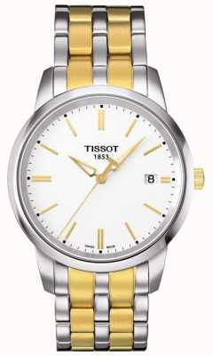 Tissot Mens Classic Dream Two Tone White Dial T0334102201101