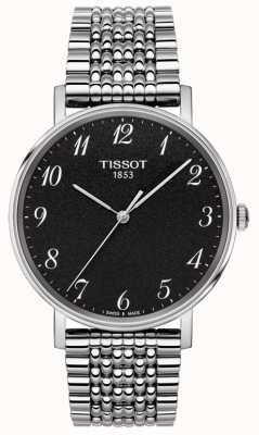 Tissot Mens Everytime Stainless Steel Bracelet Black Dial T1094101107200