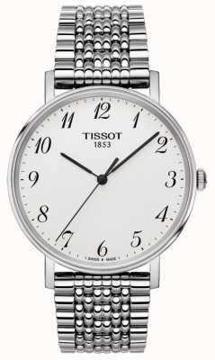 Tissot Mens Everytime Stainless Steel Silver Dial Numeric Markers T1094101103200