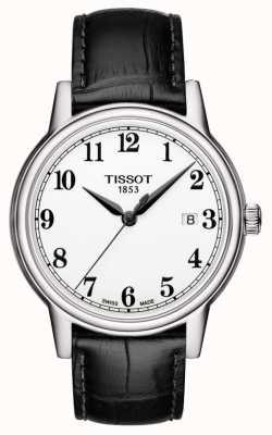Tissot Mens Carson Black Leather Strap White Dial T0854101601200