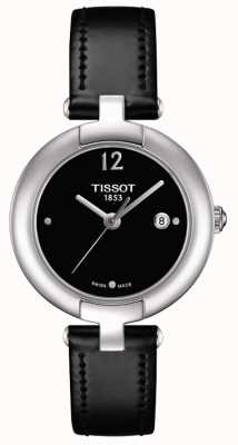 Tissot Womens Pinky Black Leather Strap Stainless Steel T0842101605700