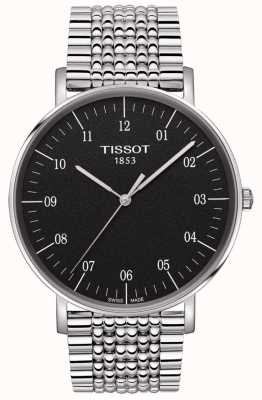 Tissot Mens Everytime Stainless Steel Black Dial T1096101107700