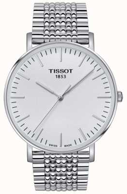 Tissot Mens Everytime Stainless Steel Silver Dial T1096101103100