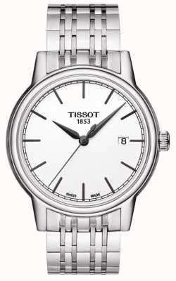 Tissot Mens Carson Stainless Steel Silver Dial Black Hands T0854101101100