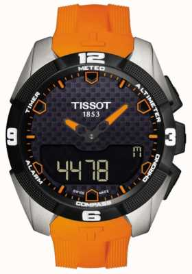 Tissot Mens T-Touch Expert Solar Titanium Alarm Chronograph T0914204705101