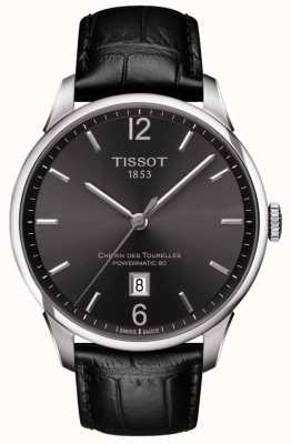 Tissot Mens Chemin Des Tourelles Automatic Swiss Made Black Dial T0994071644700