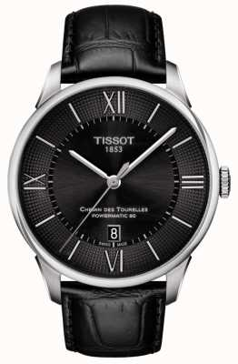 Tissot Mens Chemin Des Tourelles Automatic Swiss Made Black Dial T0994071605800