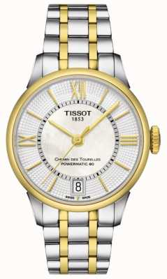Tissot Womens Chemin Des Tourelles Automatic Two Tone Swiss Made T0992072211800