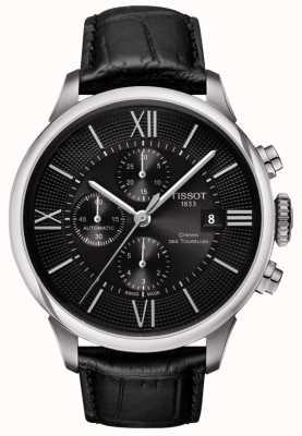 Tissot Mens Chemin Des Tourelles Black Automatic Chronograph T0994271605800