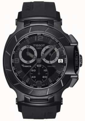 Tissot Mens T-Race Chronograph Black Rubber Strap Black Dial T0484173705700