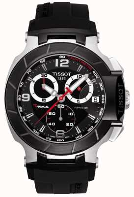 Tissot Mens T-Race Chronograph Black Strap Black Dial T0484172705700