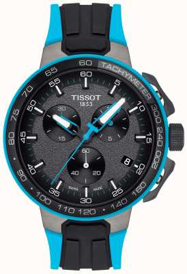 Tissot Mens T-Race Cycling Black Blue Rubber Strap T1114173744105