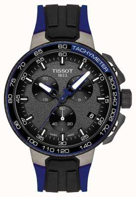 Tissot Mens T-Race Cycling Black Dark Blue Rubber Strap T1114173744106