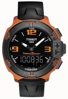 Tissot Mens T-Race Touch Alarm Black Rubber Strap T0814209705703