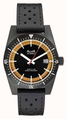 Alsta Surf N Ski Limited Edition Black PVD Plated Black Leather SURF N SKI