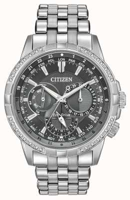 Citizen Mens Calendrier Diamonds Grey Dial Watch BU2080-51H