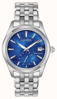 Citizen Ladies Eco-Drive Corso Stainless-steel Blue Pearl Dial Watch EV1030-57N