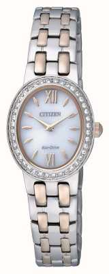 Citizen Womens Eco-Drive | Stainless Steel | Strap Crystal Set | EX1396-52A