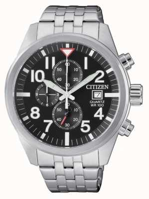 Citizen Mens Quartz Stainless Steel Chronograph 100m Water Resistant AN3620-51E
