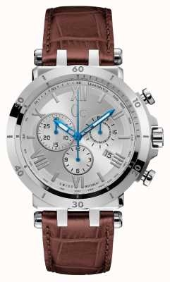 Gc Insider Mens Chronograph Brown Leather Strap Y44001G1