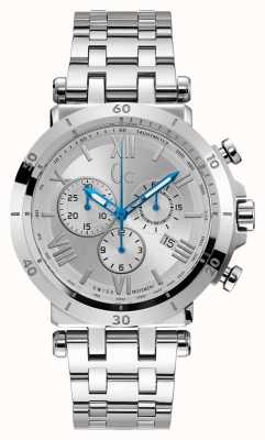 Gc Insider Mens Chronograph Stainless Steel Bracelet Y44004G1
