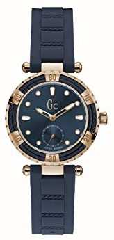Gc Ladydiver Cable Blue Silicone Strap Blue Dial Y41006L7