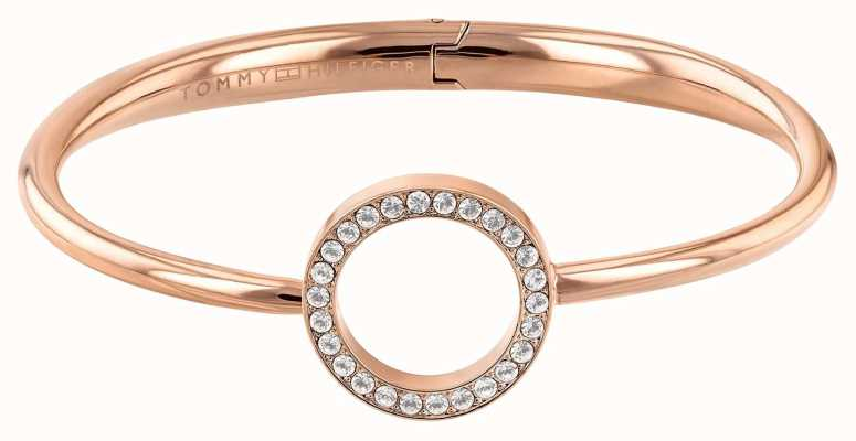 Tommy Hilfiger Open Circle Rose Gold Tone Bangle 2780066