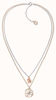 Tommy Hilfiger Double Layer Coin Charm Necklace 2780069