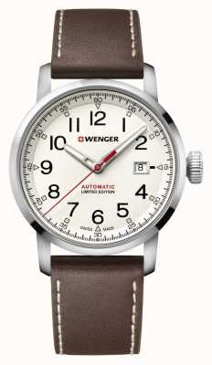 Wenger Mens Attitude Heritage Automatic Brown Leather Strap 01.1546.101
