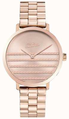 Jean Paul Gaultier Glam Womens Rose Gold Tone Metal Watch JP8505608