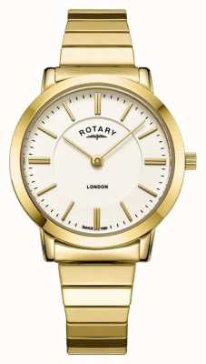 Rotary Women's London Gold Stainless Steel Expanding Bracelet Watch LB00766/03