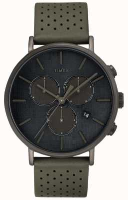 Timex Mens Fairfield Chrono Supernova Grey Strap Grey Dial TW2R97800