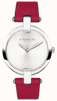 Coach Womens Red Leather Chrystie Watch 14503199