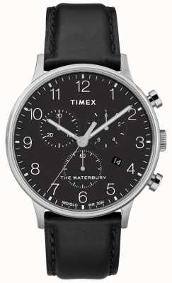 Timex Men's Waterbury Classic Chronograph Watch Black Strap TW2R96100D7PF