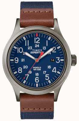 Timex Expedition Scout Watch Blue Fabric Strap TW4B14100D7PF