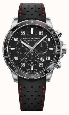 Raymond Weil Mens Tango Black Chronograph Rubber Strap 8570-SR1-05207