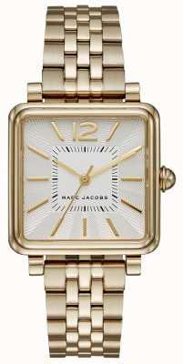 Marc Jacobs Womens Vic Watch Gold Tone Bracelet Square Dial MJ3462