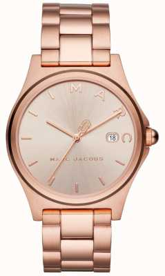 Marc Jacobs Womens Henry Watch Rose Gold Tone MJ3585