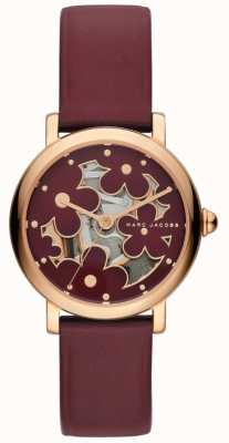 Marc Jacobs Womens Marc Jacobs Classic Watch Burghundy Leather MJ1629