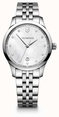 Victorinox Swiss Army Womens Alliance Small White Pattern Dial Stainless Steel 241830