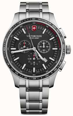 Victorinox Swiss Army Mens Alliance Sport Chronograph Steel Bracelet Black Dial 241816