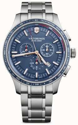 Victorinox Swiss Army Mens Alliance Sport Chronograph Steel Bracelet Blue Dial 241817