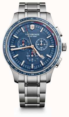 Victorinox Swiss Army Mens Alliance Sport Chronograph Steel Bracelet Blue Dial 241817